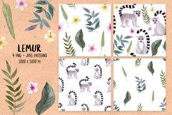 Watercolor Lemur. Patterns, Cliparts Product Image 3