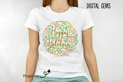 Happy Holidays, Christmas SVG / PNG / EPS / DXF files Product Image 2