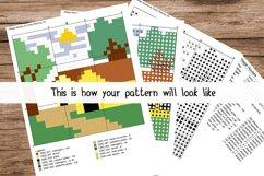 Cartoon Dinosaur Cross Stitch Pattern - Instant Download Product Image 2