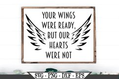 Memorial With Wings Your Wings Were Ready SVG Product Image 1
