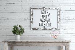 Faith, Family and Farm Life Wood Sign SVG Product Image 2