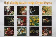 Vintage Flowers Oil Painting Digital Paper - Vol 2 Product Image 2
