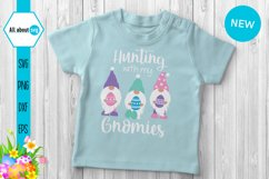 Hunting With My Gnomies, Funny Easter Gnomies Svg Product Image 5