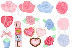 Valentine's Day Clipart, Romantic Graphics, Love Clipart Product Image 5