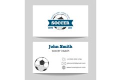 Soccer business card Product Image 1
