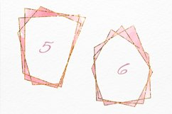 Gold frames Blush pink Navy and Grey watercolor texture Product Image 4