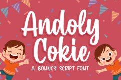 Andoly Cokie - Bouncy Script Font Product Image 1