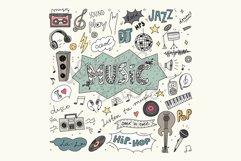 Digital Music Clip Art, Vector Illustration, Music Doodles Product Image 1