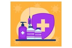 Vaccine and medical in flat design Product Image 1