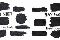 Brush Strokes Background Bundle Glitter & Watercolor PNG Product Image 6