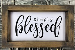 Simply Blessed SVG | Blessed SVG | Home Decor | Cricut Product Image 3