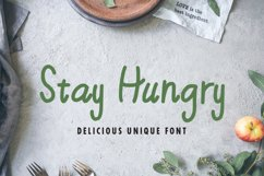 Stay Hungry - Food Font Product Image 1
