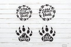 Baby Bear SVG Little Cub in SVG, DXF, PNG, JPEG Product Image 3