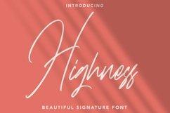 Web Font Highness - Signature Font Product Image 1