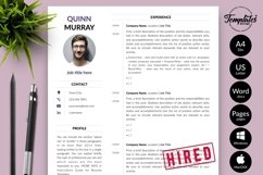 Modern Resume CV Template for Word & Pages Quinn Murray Product Image 1
