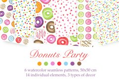 Watercolor Donuts Party Product Image 1