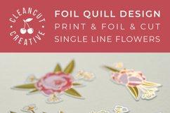 Foil Quill Flowers | Print & Foil single line sketch design Product Image 5