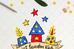 Let freedom ring, fireworks sublimation design Product Image 2