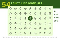 Fruits icons set Product Image 2