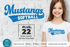 Mustangs svg, Mustang svg, Mustangs baseball svg, dxf, png Product Image 1