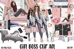 Girl Boss Clipart - Planner Fashion Clipart - Business Woman Product Image 1
