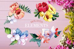 Bouquet touching feelings Watercolor png Product Image 8