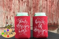 Red Can Cooler Mockup Product Image 2
