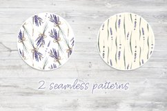 Lavender Watercolor Set Clipart Product Image 3