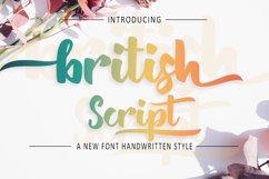 British Script - Handmade Brush Font Product Image 1