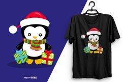 Baby Penguin Giftbox T-Shirt Design | Sublimation T-Shirt Product Image 5