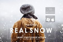 Real Snow Photoshop Action Product Image 1