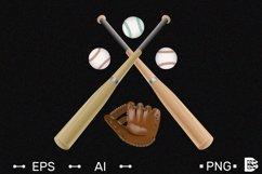 Baseball logo template. Realistic Vector illustration. Product Image 1