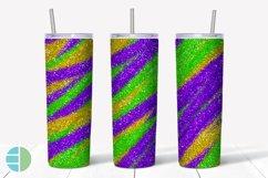 Skinny Tumbler Sublimation Design - Mardi Gras Glitter Product Image 2