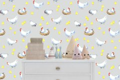Happy Chicken Seamless patterns Product Image 4