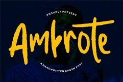 Web Font Ambrote - A Handwritten Brush Font Product Image 1