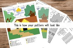 Cartoon Giraffe Face Cross Stitch Pattern - Instant Download Product Image 2
