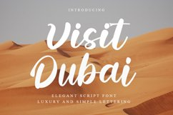Visit Dubai | Elegant Script Font Product Image 1