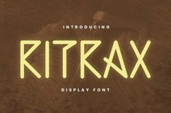 Web Font RITRAX Font Product Image 1