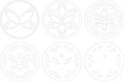 Layered Mandala SVG, Laser cut file Mandala, 3D Lotus Product Image 6