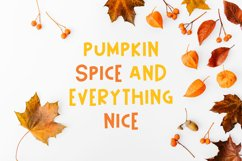 Happy Pumpkin Font Product Image 5