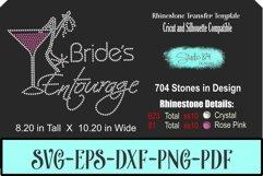 Brides Entouarge with Martini - Rhinestone SVG Transfer Temp Product Image 1