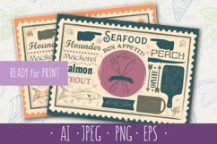 Seafood Placemat for Restaurant, Bar, Pub and Cafe. Product Image 1