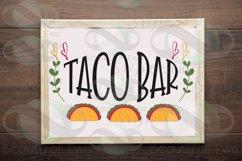 Cinco de Mayo taco bar svg & png, taco bar svg, taco svg Product Image 1