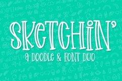 Web Font Sketchin - A Doodle & Font Duo Product Image 1