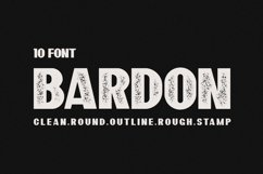 10 Font - Bardon Font Family Product Image 1