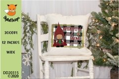 Christmas Naughty And Gnome Regrets Plaid Sublimation Product Image 1