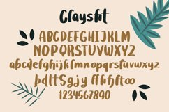 Claysfit - Cute Display Fonts Product Image 3