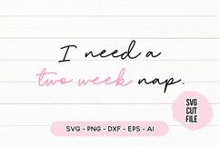 Sleepy SVG - I Need A Two Week Nap SVG Product Image 2