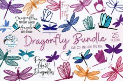 Dragonfly SVG Bundle | 25 Dragonfly SVGs Product Image 1