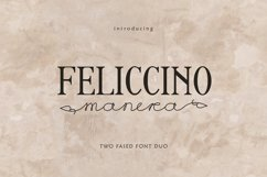 Feliccino Manera Two Faced Font Duo Product Image 1